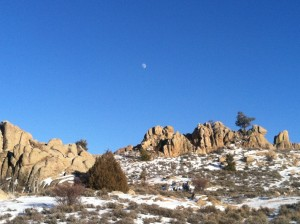 Moon Rise Hartmans Rocks || Gunnison County Winter Activities
